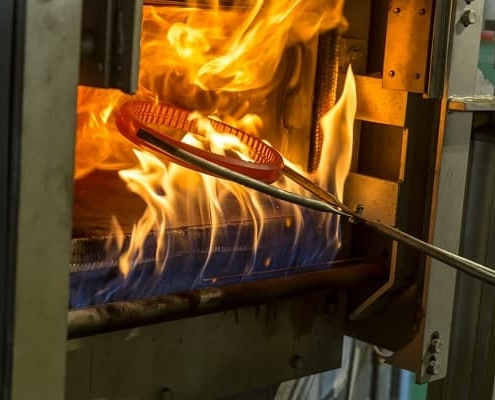 Heat treatments industrial knives blades